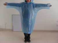 plastic raincoats in adult type disposable plastic rain poncho with button open1