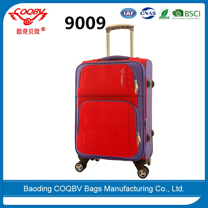 COQBV wholesale fashion soft suitcase cabin size