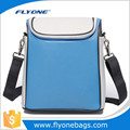 Hot sales light blue polyester heat insulation cooler picnic bag with shoulder strap
