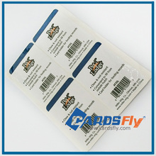 Custom adhensive stickers for pvc id card