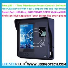 Customized 4inch Touch Screen oem biometric rfid card door access control system