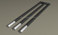 High Temperature Furance Heating Element Silicon Carbide W Type SIC Rod 1400C