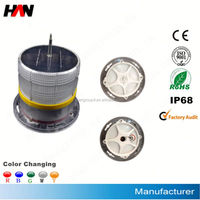 solar airport airfield runway edge LED warning lights