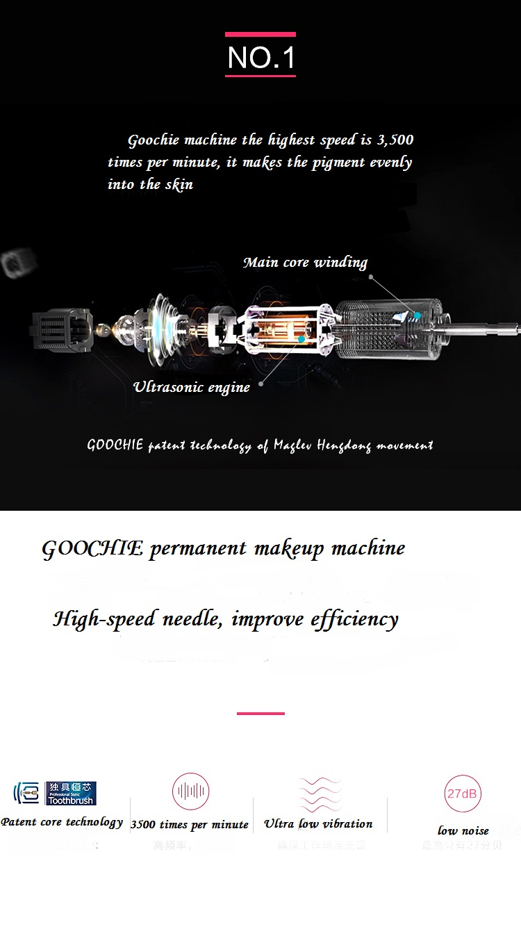 Goochie permanent makeup eyebrow tattoo gun 2011 machine