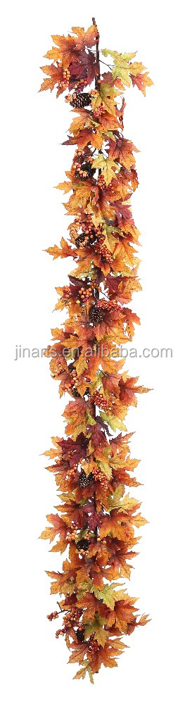 5' maple garland artificial flower garland