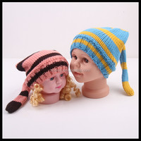2016 Multicolor Custom Knit Baby Cap Small MOQ to Order Funny Cable Beanie Hats for Kids