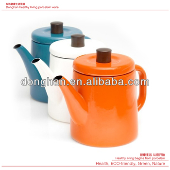 ceramic coffee tea pots with oem design custom logo