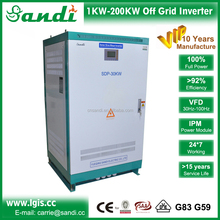 30KW output power off grid inverter with variable frequency drive for 3 phase power motor inductive load