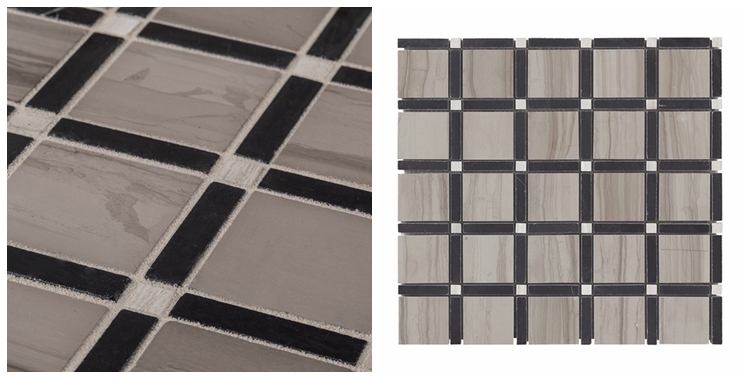 Decorstone24 Sandalwood Marble Gray Limestone Kitchen Backsplash Mosaic Tiles