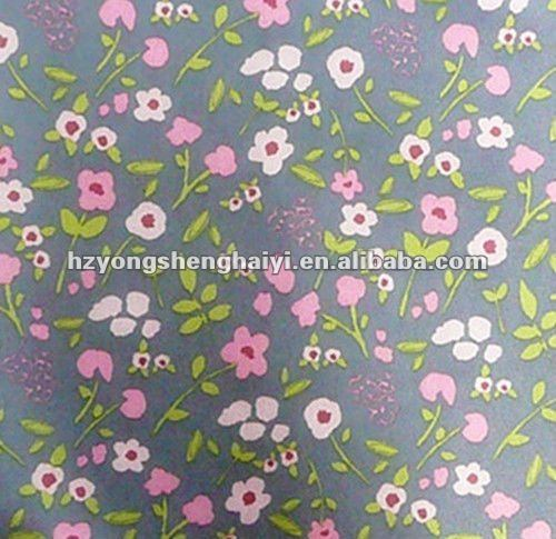 poly flower printed oxford fabric with pu coated for bag