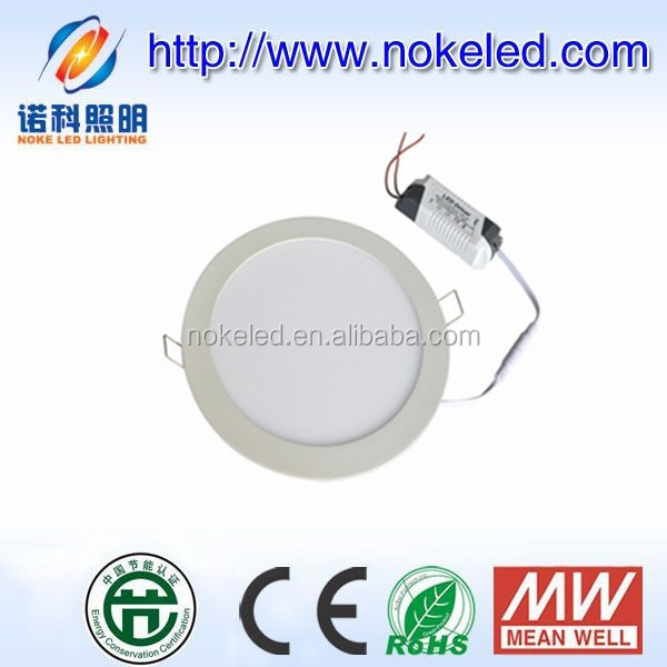 Crazy price in valid time round led panel light 12W, smd recessed led panel with factory direct wholesale