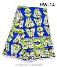 HW-14 African Super Wax Hollandais Prints Fabric Cotton Tops Designs