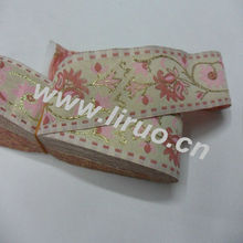 jacquard and embroidered ribbon for trims