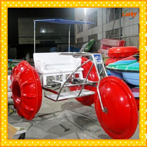 Professional manufacturer 3 big wheels water bikes for sale