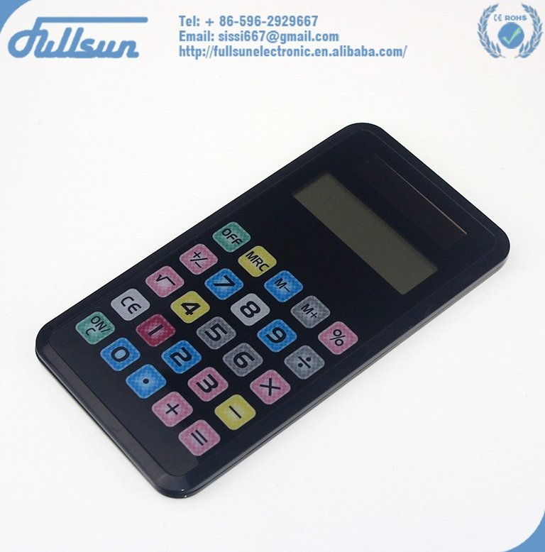 Office touch screen dual power 8 digits pocket calculator FS-1103