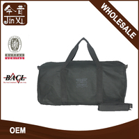 high quality black upscale canvas travel duffel bag