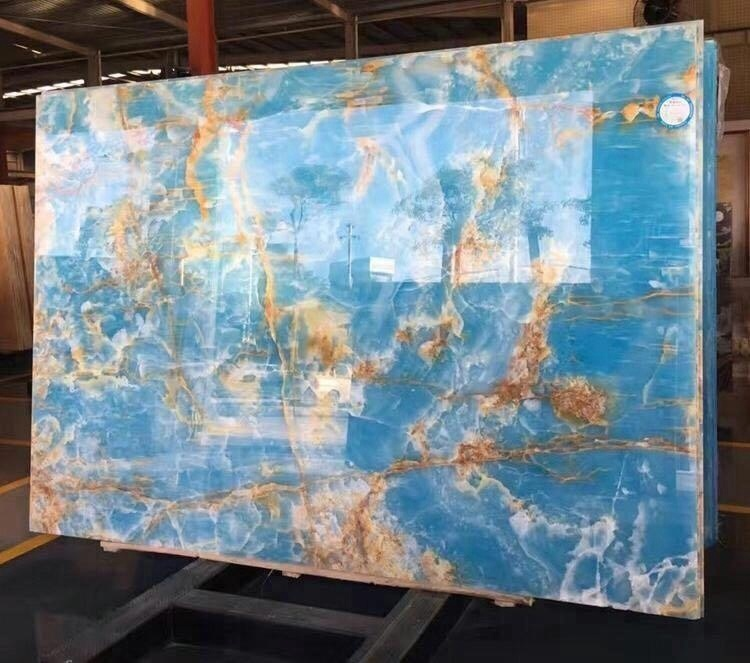 Natural Blue Stone Marble Onyx