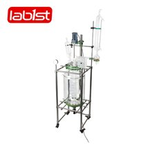 100L Double Jacket Glass Chemical Reactor heating