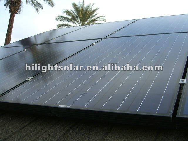250W Full Black Solar Panel for Home Use with TUV/CE/IEC/CEC