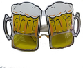 Oktoberfest glasses eye glasses cheers party beer cup party glasses