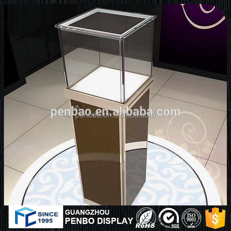 Retail fashion jewelry store display furniture jewelry showcase for sale