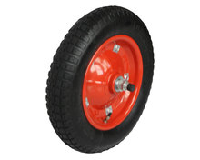 Best quality rubber coated pneumatic wheelbarrow tyre for sale