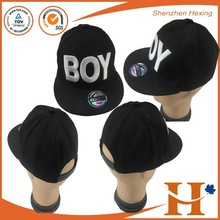 NEW Black Fashion trend Men's Snapback adjustable Baseball Cap black Hip Hop hat