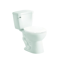 Low price WC single flush siphonic two piece toilet