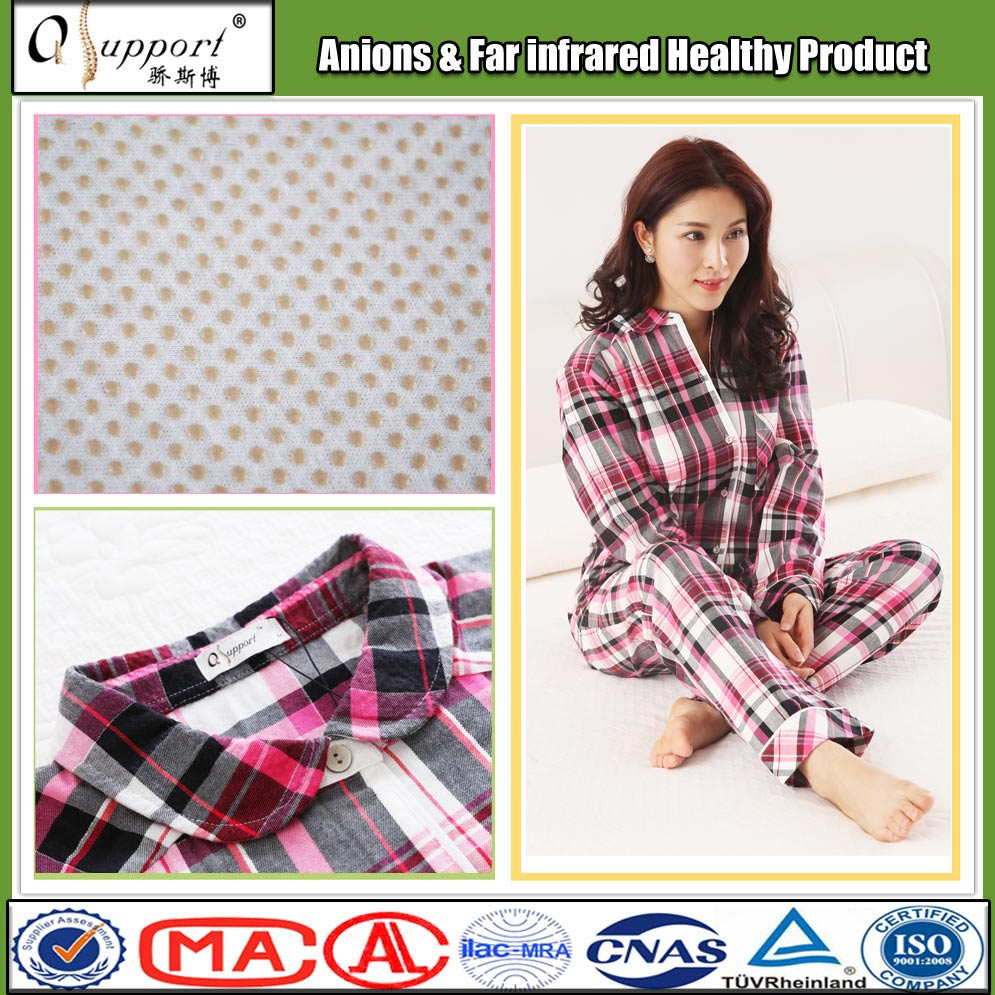 china cotton blend fabric in-stock items women far infrared sleepwear