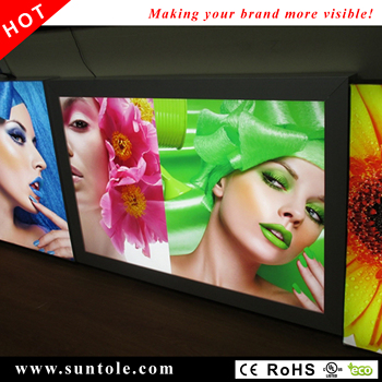 Outdoor backlit light box WD10-150 snap-open stretched banner