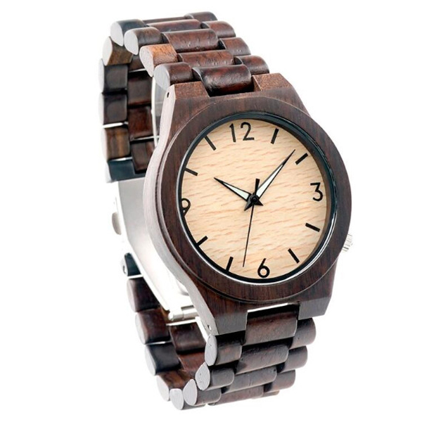 Wholesale Eco-friendly Creative Gift Wood Watch in Stock
