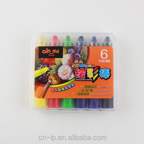 6pcs water soluable oil pastel set for kids