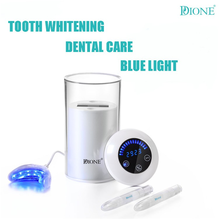 whitening teeth combine touch switch tooth tray,gel and uv fisinfest oral cleaning machine