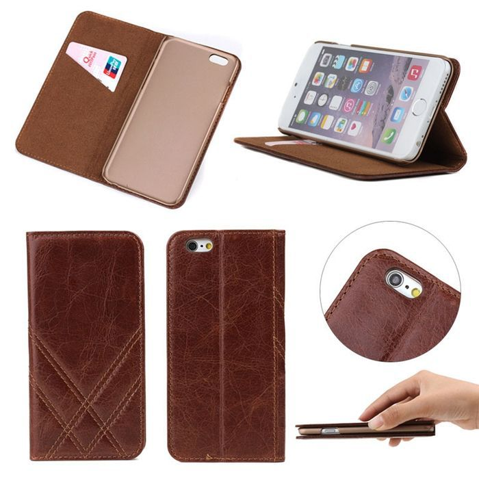 Wallet case flip leather cover battery case christmas mobile phone case for iphone6