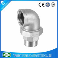 3 way elbow fitting API 150lbs weld threaded union elbow pipe fitting