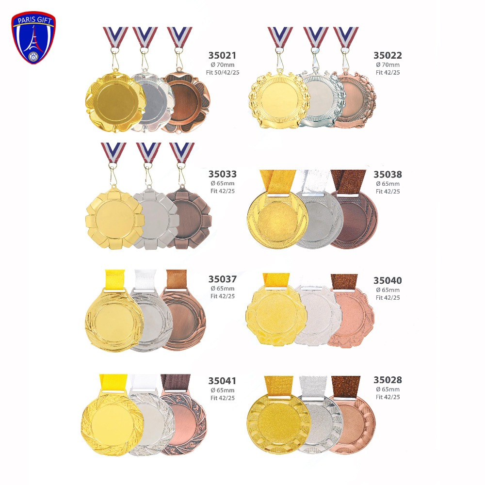 blank medal with ribbon various styles