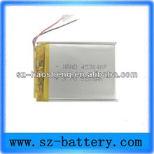 2013 hot sale 3.7v 500mah ge power lipo battery