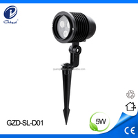 Outdoor waterproof RGB 5W 12v led landscaping spot light