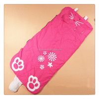 Fashion design baby sleeping bag newborn baby clothes plush Inflatable kids sleeping bag