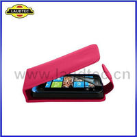 2012 New Product For Nokia Asha 311Leather Flip Case,New Back Cover Case