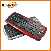 Mini bluetooth handheld wireless trackball keyboard for android 2.4g keyboard trackball for smart tv