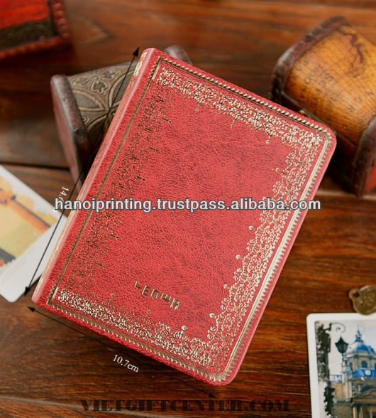 Novel Book Printing with embossed leather cover