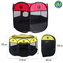 8 sides playpen waterproof foldable portable instant cat and dog pop up tent