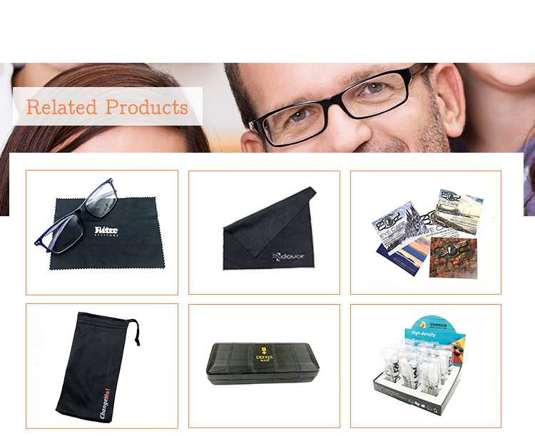 High quality  microfiber sunglasses drawstring eyewear pouch with various pattern