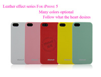2013 newest PC leather effect case for iphone 5