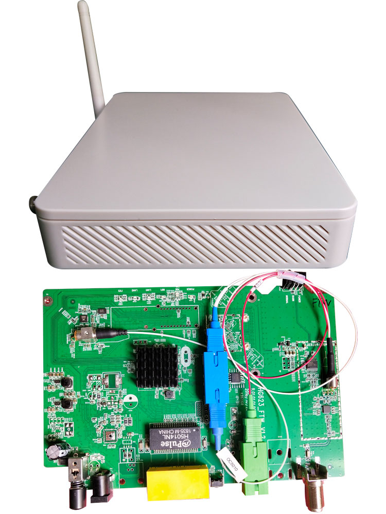 gpon onu with rf output catve wifi english firmware terminal ont optical network