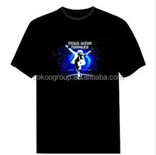 We can create your own logo sound activated custom led t shirt/light t-shirt