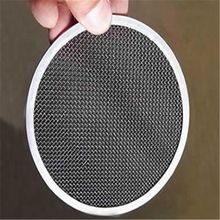 Black woven wire mesh filter disc & Water filter disc & Oil filter disc