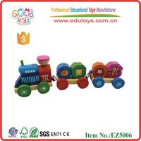 Goodkids Stacking Train,Wooden Shape Train Block Toy Classic Train Toy