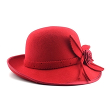China Supplier Fashion Custom Wool Felt Winter Lady Fedora Hat